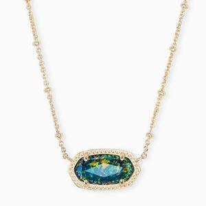 Kendra Scott Elisa necklace Midnight Kyocera Opal